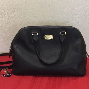Michael Kors Black Saffiano Leather Large Satchel